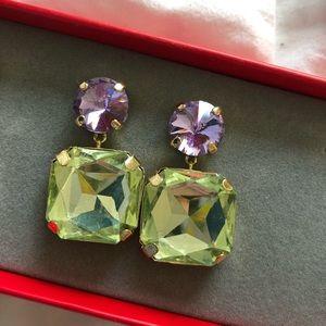 BaubleBar Jewelry - BaubleBar BonBon Gem Earring in Green/ Purple